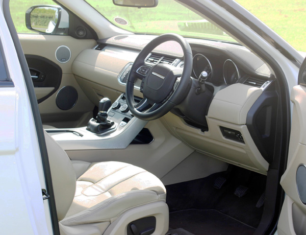 Range Rover Evoque interior - a very nice place to be...