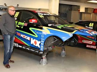 Triple Eight MD Ian Harrison and Jason Plato's MG6 GT after Thruxton