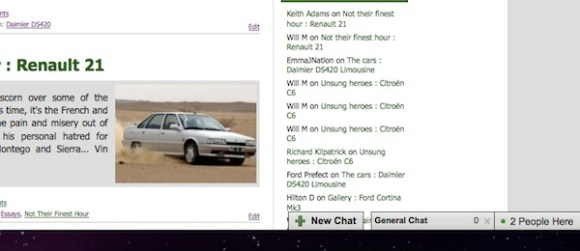 AROnline's chat function is now up and running
