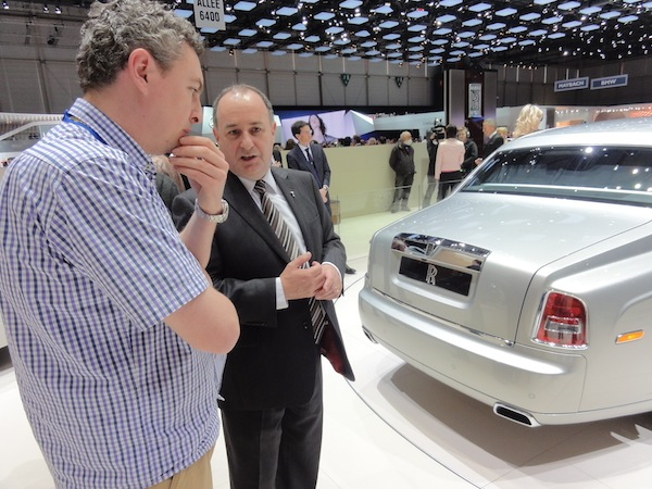 Discussing the finer points of Rolls-Royce boot hinges