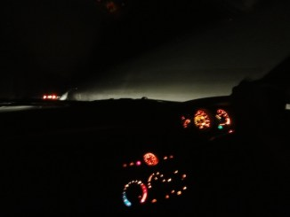 The long drive home...
