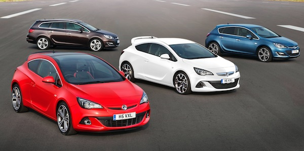 Vauxhall's UK-built Astra receives a mid-life facelift for a sharper look.