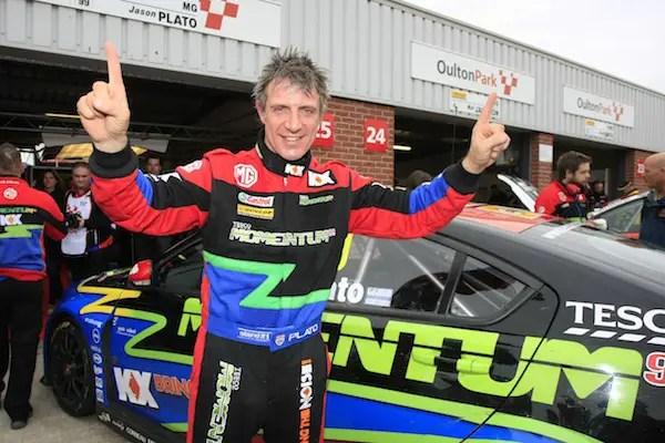 Jason Plato on pole for tomorrow's BTCC triple-header at Oulton Park