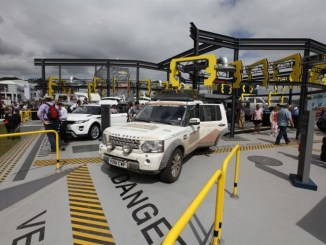 The One Millionth Land Rover Discovery vehicle is on display at the Goodwood Festival of Speed (29 June – 1 July), where Land Rover are celebrating the 'Journey of Discovery' with a stand that replicates a JLR manufacturing facility and an experience area that is themed around the expedition.