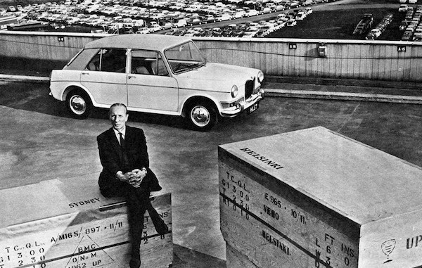 Riley Kestrel and its creator, Alec Issigonis