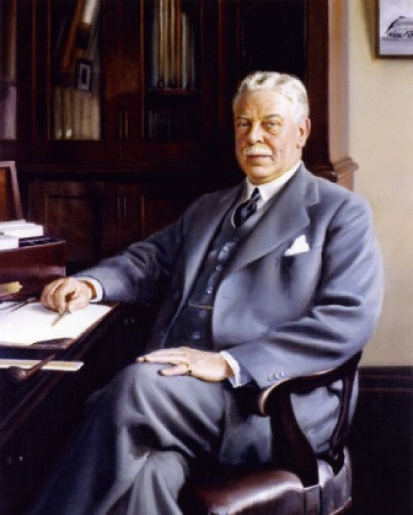 LNER Chief Engineer Sir Nigel Gresley - The most famous locomotive designer in the world.
