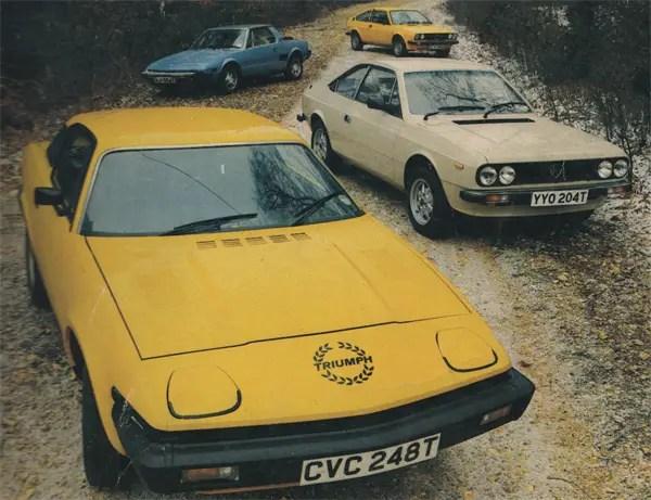 Triumph TR7 vs Lancia Beta Coupe vs Fiat X1/9 vs Alfa Romeo Alfasud Sprint