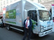 Arriving at Regent Street under an RAC escort - I thoroughly enjoyed myself and the truck performed brilliantly.