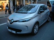 Renault Zoe - The winner on the day with the Vauxhall Ampera running a close second.