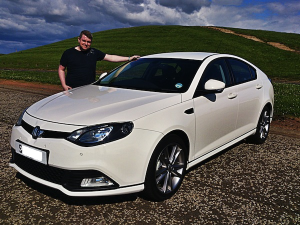 Ant McGowan and his MG6 - now sold