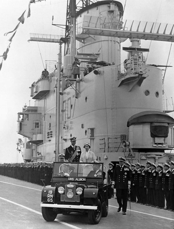 Queen_Elizabeth_&_Prince_Philip_HMS_Albion_-1958