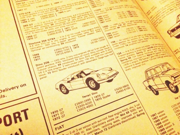 1973 price guide makes fascinating reading today.
