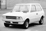 The Bertone proposal for Innocenti's new Mini replacement – note the prominent Leyland roundel (Photo: British Mini & Lifestyle)
