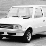 The Bertone proposal for Innocenti's new Mini replacement –note the prominent Leyland roundel (Photo: British Mini & Lifestyle)