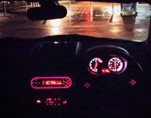 MG3 night dash