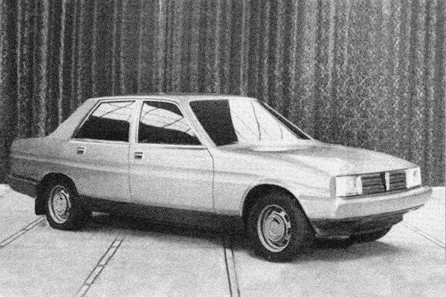 Triumph-Morris TM1: Purely speculative computer image of how the TM1 saloon may have looked when considering the description of the car detailed below. The Triumph TM1 would have been pure SD2. Given the way the styling scheme for the car has been devised, it may have proven difficult for the Morris version to have looked vastly different from the Triumph variant