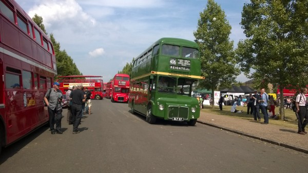 The Routemaster 60 gathering at Finsbury Park London saw over 100 running class members on display. This example is one of the early prototype vehicles from 1954.
