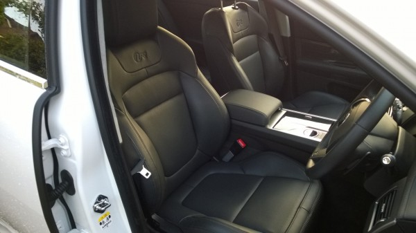 Interior is a classy, understated affair - but sports seats are mega-supportive