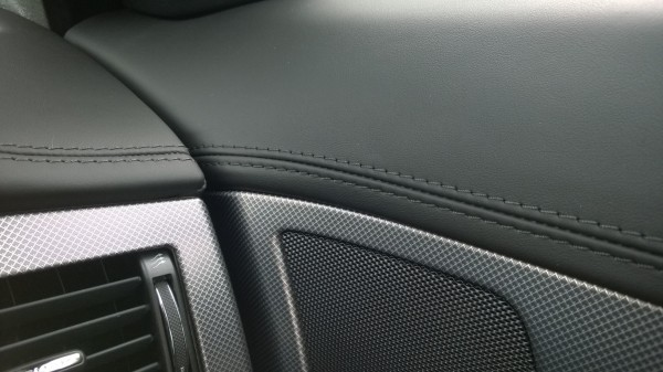 Excellent build quality is evident in interior detailing.