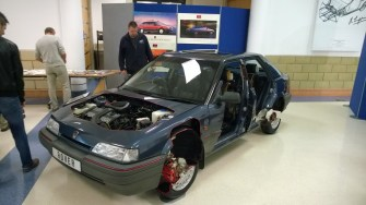 The 1989 Motor Show sectioned 214 GSi built by Longbridge apprentices.