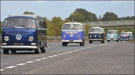 Fancy getting stuck behind this lot? Image: BBC News