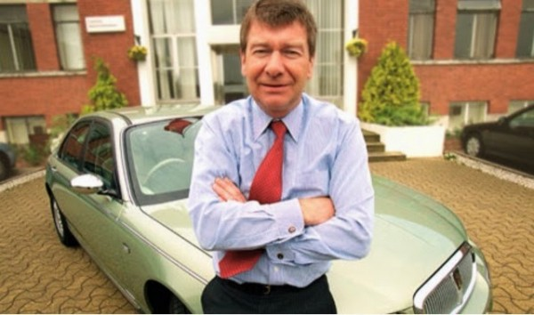 John Towers with a Rover 75, shortly after the Phoenix takeover