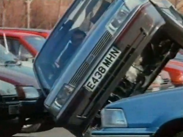 Russ at the wheel of the Montego 1.6L - one of the most memorable car adverts ever made.