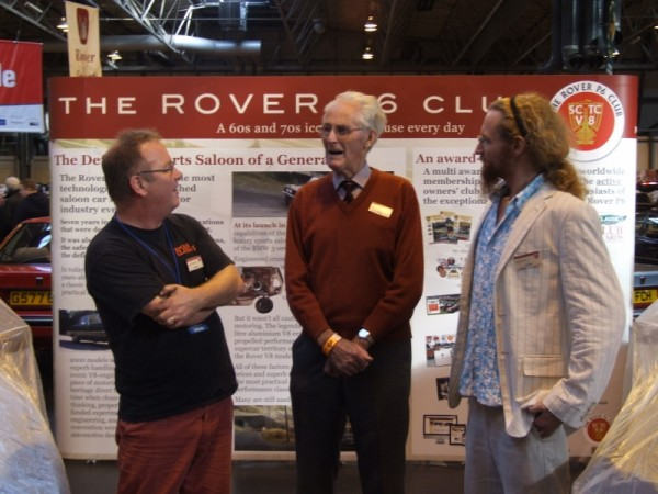Former Rover development engineer John Willmer talks to Danny Hopkins and Sam Glover of Practical Classics as the launch of the P6 is recreated