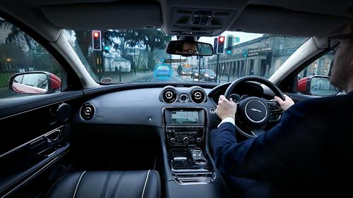 Jaguar Land Rover Urban Windscreen 'Follow-Me' Ghost Car