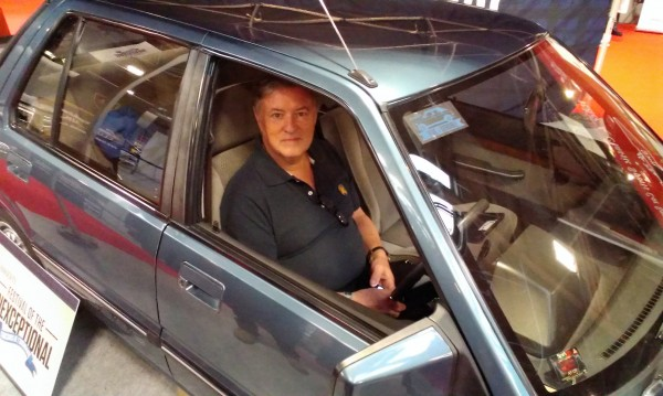 Denis Chick - former Austin Rover P.R Manager now Communications Driecctor with Vauxhall wandered over and shared some stories about the good old bad old days.