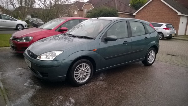 My new smoker - A 2004 (04) Focus 1.8 LX in Neptune Green... the epitome of modern Bangernomics