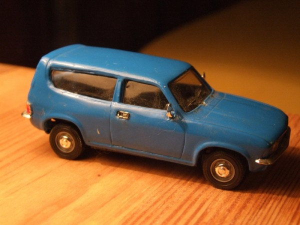Something a bit different - I found this in an autojumble. It's based on the Vanguards Allegro saloon, but somebody has lovingly created an estate rear body out of resin and painted it Pageant Blue. A nice, quirky one-off...