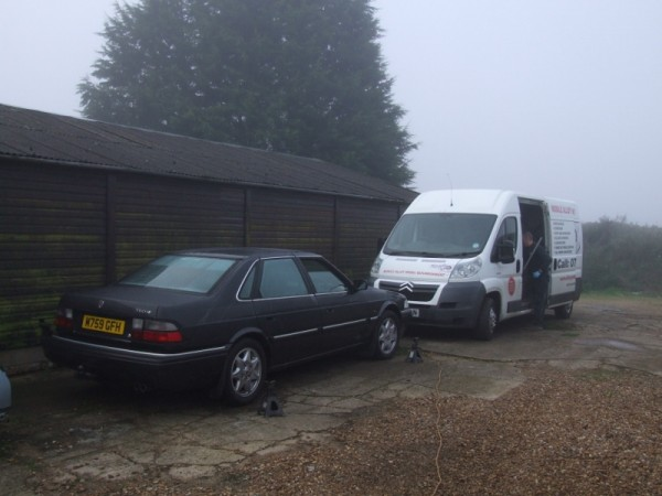 Adrian's Alloy Ambulance is equipped to refurb wheels even in the most miserable of conditions...