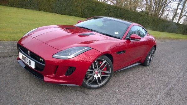 The range-topping 5.0 V8 Jaguar F-Type R. Lovely, isn't she?