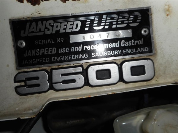 Janspeed plaque a sign of authenticity