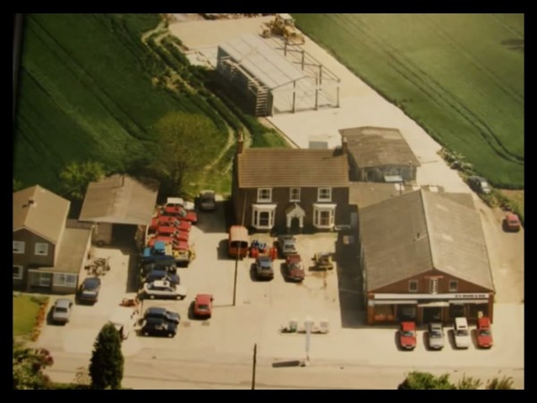 By 1991, the site had expanded further (although the family home is still on-site). At the back, a new storage and preparation centre is under construction. Meanwhile, a white R8 to the left of the picture cuts quite a dash, showing how modern this car looked when it first appeared