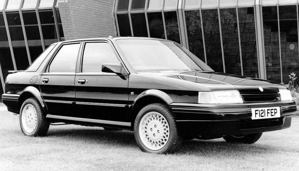 For the face lifted Montego range, gone were the idiosyncratic metric wheels and tyres. The above Rover Group publicity image shows the last version of the MG Turbo just a short while from the models deletion.