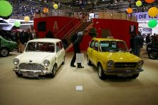 Autobianchi A112, the original Supermini, next to the car that inspired it.