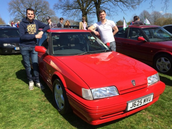 Andrew Braban's 820 Tickford was another favourite, pictured here with Andrew and Chris Palframan, who got it ready for the show with just days to spare