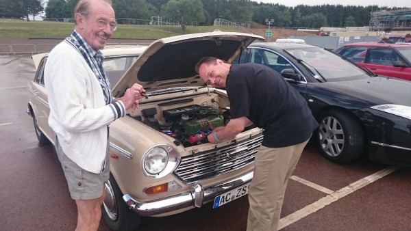 Alexander Boucke and his father do their best to fix his 1800S