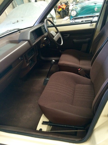 Seats (the posh ones, in cloth, not vinyl) are immaculate