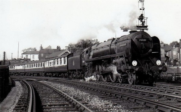70001 Lord Hurcombe- leaving Norwich