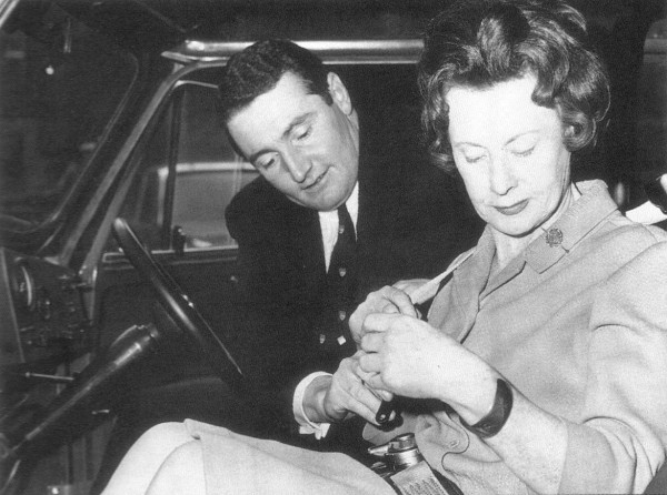 Barbara Castle with Paddy Hopkirk