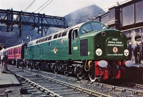 The English Electric Type 4, later known as the Class 40, was one of the early diesel electric locomotives.