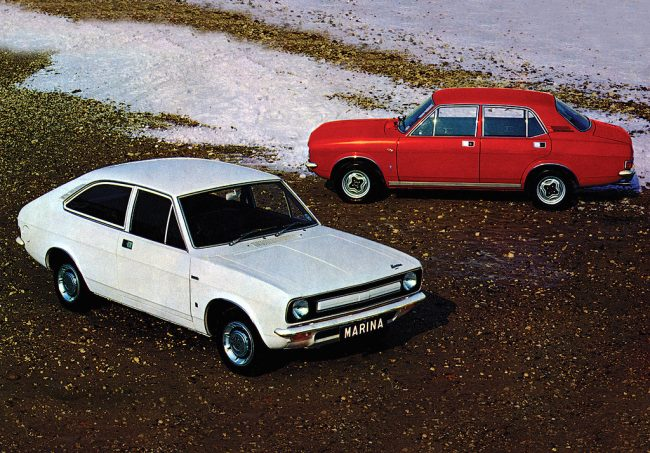 This week in 1971 saw the launch of the Morris Marina. Happy birthday old gal.