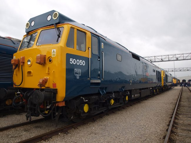 Some impressive heritage exhibits were also on public display including this mouth watering brace of BR Class 50's.