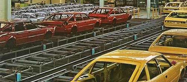Rover SD1 production at Solihull