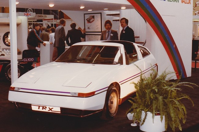 International Automotive Design unveiled its first concept car at the NEC motor show in 1980. It was a reskin of the Triumph TR7, and was meant to showcase the company's design consultancy business.