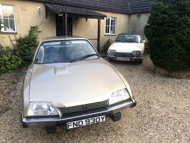 The Citroen GS shares drive space with Keith's CX. If you want to hear more about that car's adventure back onto the road, please do get in touch.