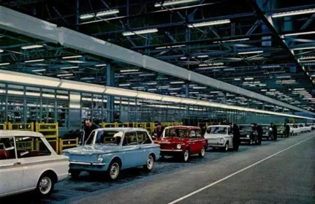 Hillman Imp production line at Linwood Scotland